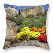 Ott's Greenhouse - Chrysanthemum Hill - Schwenksville - Pa Throw Pillow