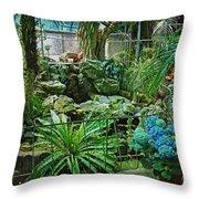 Ott's Greenhouse - Schwenksville - Pennsylvania - Usa Throw Pillow