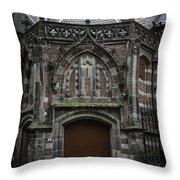 Oude Kerk Door Amsterdam Throw Pillow