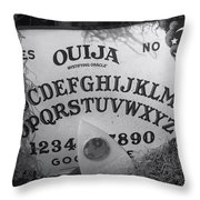 Ouija Board Queen Mary Ocean Liner Bw Throw Pillow