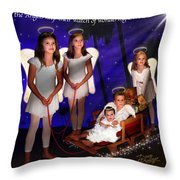Our Christmas Angels Throw Pillow