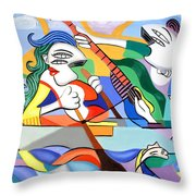 Our First Cruse  Throw Pillow by Anthony Falbo
