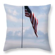 Our Flag Throw Pillow by Joseph Baril