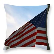 Our Flag Was Still There Throw Pillow