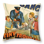 Our Gang Vintage Movie Poster 1930s Throw Pillow