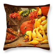 Our Harvest Today Throw Pillow