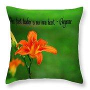 Our Heart Teaches Throw Pillow