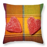 Our Hearts On The Table Throw Pillow