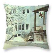 Our House In Medford Throw Pillow