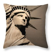 Our Lady Liberty Throw Pillow