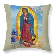 Our Lady Of Guadalupe-new Dawn Throw Pillow by Mark Robbins