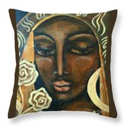 Our Lady Of Infinite Possibilities Throw Pillow