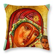 Our Lady Of Kazan Throw Pillow