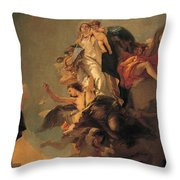 Our Lady Of Mount Carmel  Throw Pillow