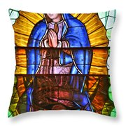 Our Lady Of Peace Throw Pillow by Christine Till