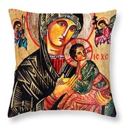 Our Lady Of Perpetual Help Icon Throw Pillow