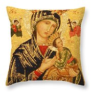 Our Lady Of Perpetual Help  Throw Pillow by Philip Ralley