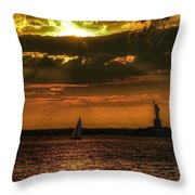 Our Lady Of The Harbor Throw Pillow