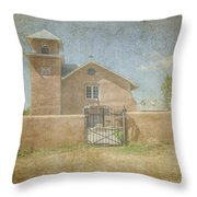 Our Lady Of The Holy Rosary Throw Pillow by Bob and Nancy Kendrick