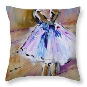 Our  Ballerina Girl Painting Throw Pillow