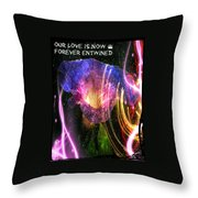 Our Love Is Now Forever Entwined Throw Pillow