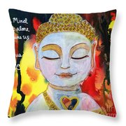 Our Mind Sets Us Free Throw Pillow