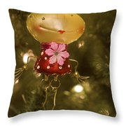 Our Miss Froggy Throw Pillow