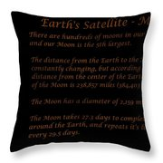 Our Moon Throw Pillow