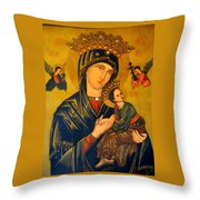 Our Mother Of Perpetual Help Rome Throw Pillow