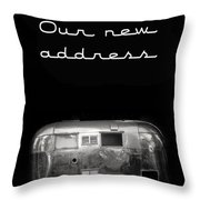 Our New Address Announcement Card Throw Pillow