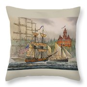 Our Seafaring Heritage Throw Pillow