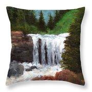 Ouray Falls Throw Pillow