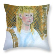 Out At The Farm Throw Pillow