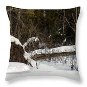 Out By The Roots Throw Pillow