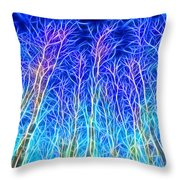 Out Doors In Blue Throw Pillow