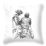 Out For A Coffee 2 Throw Pillow