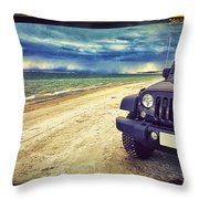 Out For A Play Throw Pillow