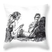 Out For A Tea Throw Pillow