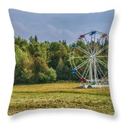 Out In Orangeville Throw Pillow