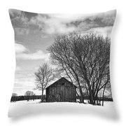 Out In The Sticks Throw Pillow