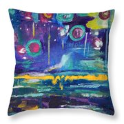 Out In The Universe Throw Pillow