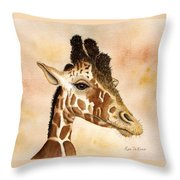 Out Of Africa's Giraffe Throw Pillow