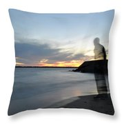 Out Of Body...out Of Mind...yet In Peace Throw Pillow