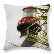 Out Of Focus Lighthouse Throw Pillow