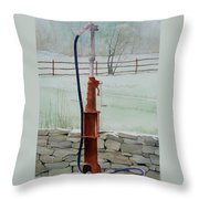 Out Of Gas Throw Pillow