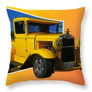 Out Of Picture Ford Throw Pillow