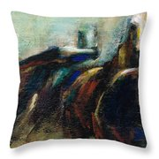 Out Of The Blue Into Reality Throw Pillow