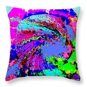 Out Of The Blue Wave Abstract Throw Pillow