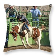 Out Of The Chute Throw Pillow