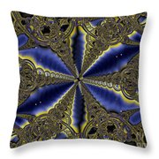 Out Of The Negative Into The Blue Flower Throw Pillow